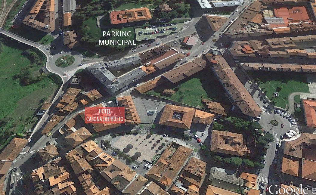 hotel casona del busto aparcamiento